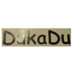 Label DukaDu til bagenden