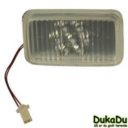Firkantet LED Forlygte 24 Volt til indbygning