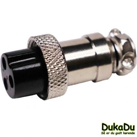 3 polet ladestik/styrestik for kabel