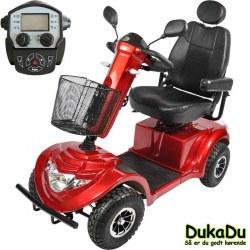 Rød El-Scooter GO-EL 840 - Høj komfort og stor motor på 1400 W. digitalt display og 75 Ah batterier
