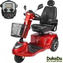 3 hjulet El scooter, GO-EL 440 i Rød - 1400 Watt motor - høj komfort og affjedring på alle hjul.