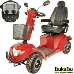 Stor XL 4 hjulet el scooter GO-EL 950, med høj brugervægt og led lys