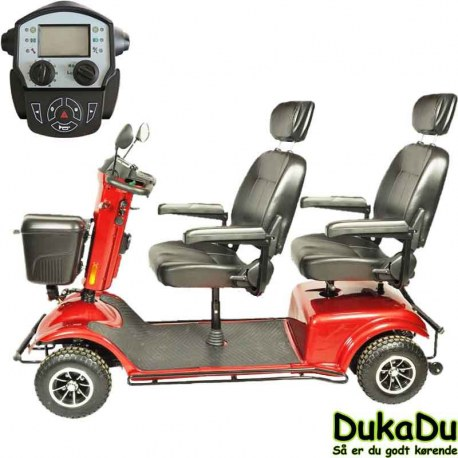 2 person scooter - Smal 4 hjulet dobbelt scooter
