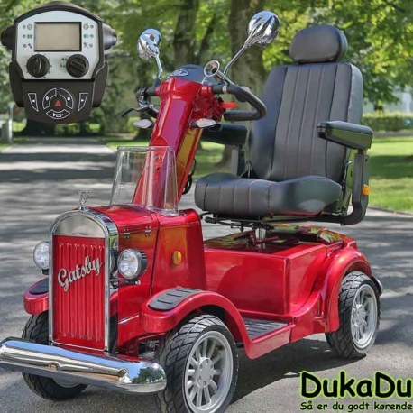 Rød Gatsby X - Vintage mobility el scooter - sjov 4 hjulet el scooter