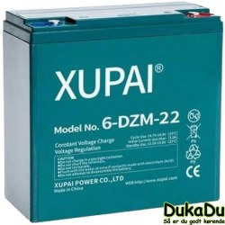 6-DZM-22 - 12 V 22 Ah Batteri