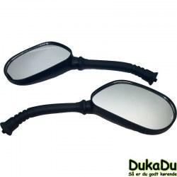 Spejlsæt med 8 mm gevind og gumme overtræk