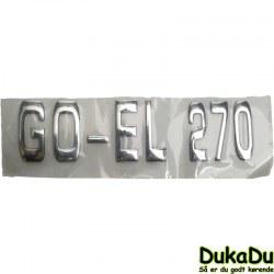 Label GO-EL 270 til bagenden