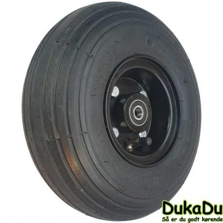 """Komplet forhjul i 4"""" med 3.00-4"""" dæk"""