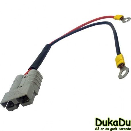 Strøm kabel med grå stik