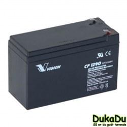 Agm Batteri 12V 7,2Ah - 6FM7,2F2 - til alarm systemer