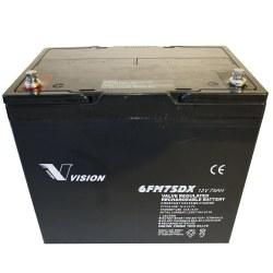 el-scooter batteri 75 AH 12 Volt