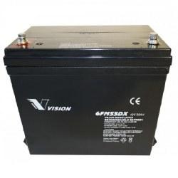 Agm 12V / 55Ah Batteri til el-scooter og golf udstyr
