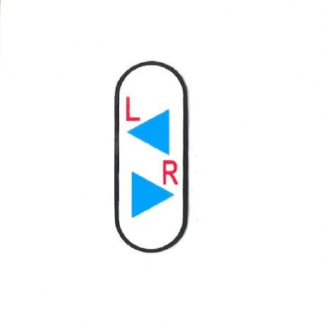 Label til blink kontakt på el-scooter