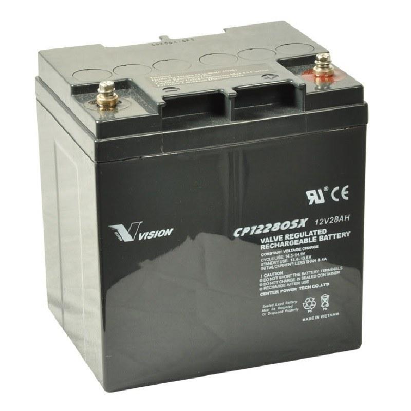 Unika Agm el-scooter batterier 12V 28Ah - CP12280 RV-53