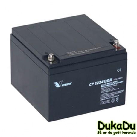 elscooter batteri 24 Ah 12 Volt