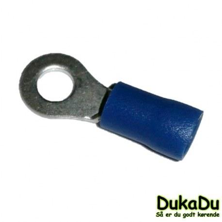 Blå ringkabelsko Ø4 mm
