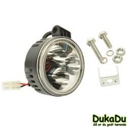 Kraftig LED Forlygte rund 24 Volt
