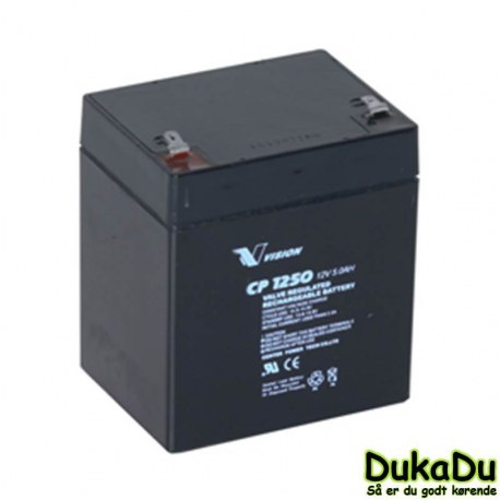 AGM Batteri 12V 5Ah - Vision CP1250 til liftkar