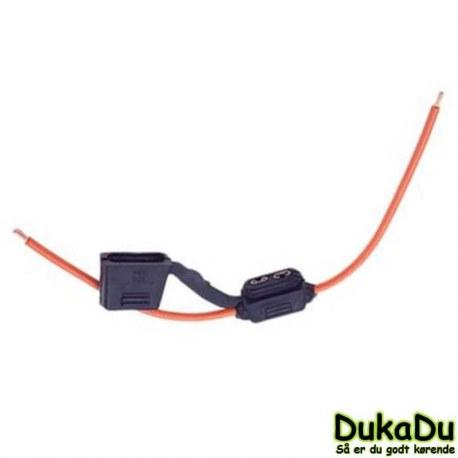 Sikringsholder med ledning og vandtæt