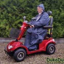 Regnponcho - Scooter regnslag med ærmer, der dækker hele personen