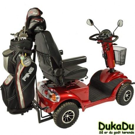 Golfvogn GO-EL 840 med super affjedering og golfbagholder.