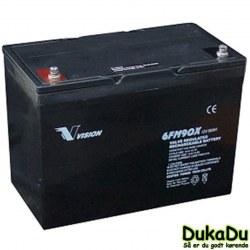 Blybatteri 12 V 90 Ah 6FM90 - Vision AGM