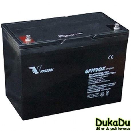 Blybatteri 12 V 90 Ah 6FM90