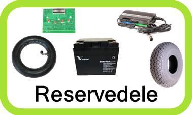 Reservedele og forbrugsvare, som batterier - dæk - slanger mm. til din el-scooter og golfvogn