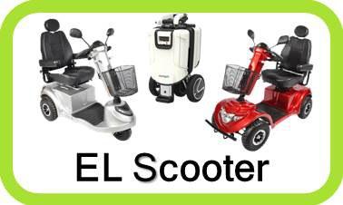 3 og 4 hjulet Handicap scooter til Senior, handicappet og gangbesværet, Kvalitet mærker fra GO-EL, S