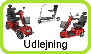 Udlejning af 3 og 4 hjulet el scooter - leje på måned basis, kort opsigelse